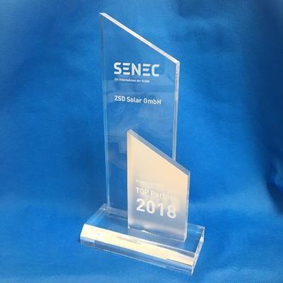 ZSD Solar ist SENEC Top Partner 2018