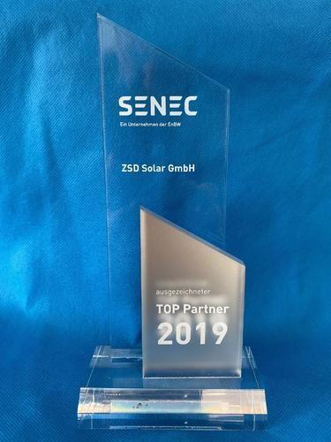 ZSD Solar ist SENEC Top Partner 2019