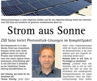 ZSD Solar Wochenpost Interview Thomas Könning